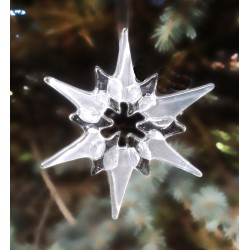 Oven-fused glass star