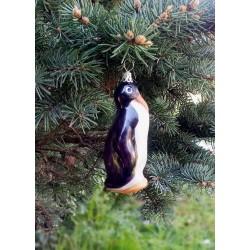 Pinguin aus mundgeblasenem Glas