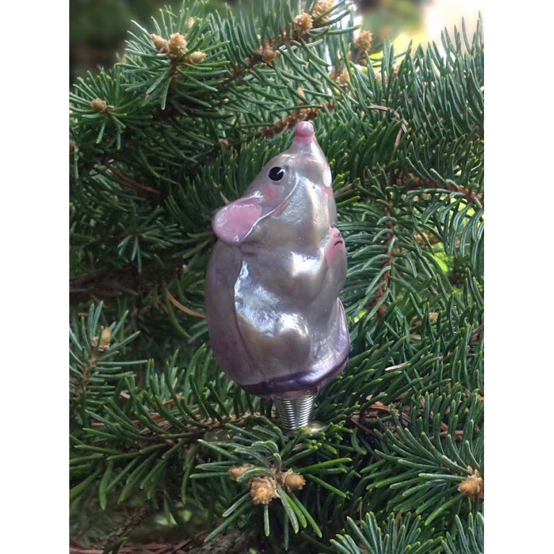 Mouth-blown glass mouse