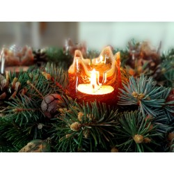 Mouth-blown wind lights for tealights