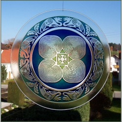 Cloverleaf Labyrinth made of oven-melted glass