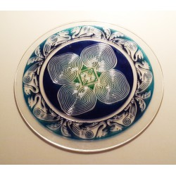 Cloverleaf Labyrinth made of oven-melted glass